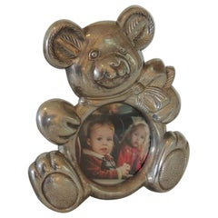 Teddy Bear Pewter Picture Frame