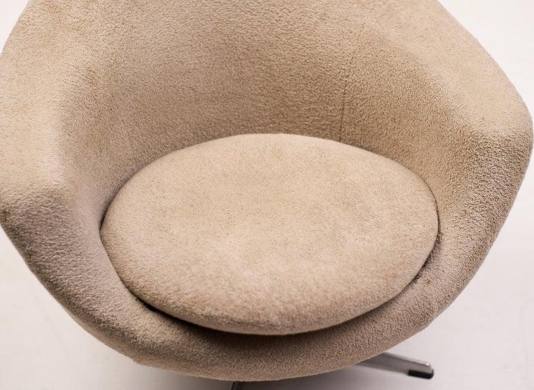 Mid-20th Century Teddy Bear Swivel Lounge Chair For Sale