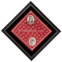 Teddy Roosevelt 1912 Presidential Campaign Kerchief on a Diagonal