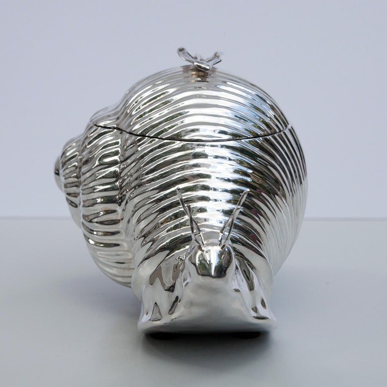 Teghini Silver Plated Snail Ice Bucket, Italy, 1977 In Excellent Condition For Sale In Munich, DE