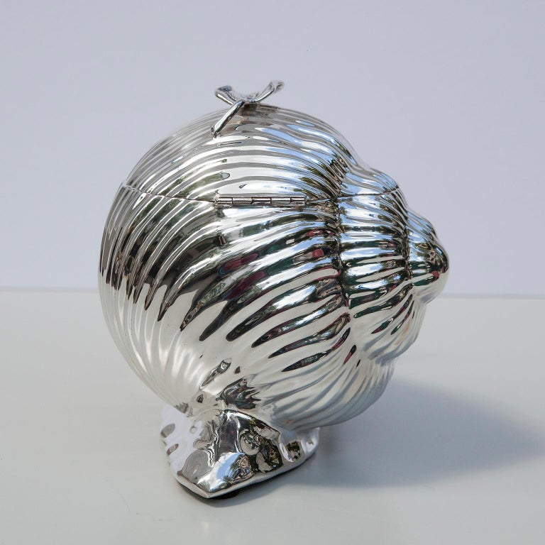 Late 20th Century Teghini Silver Plated Snail Ice Bucket, Italy, 1977 For Sale