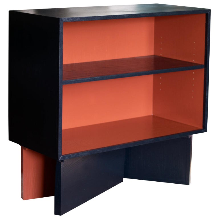 Tegmark Open Front Cabinet with Hi Gloss Enamel Finish For Sale