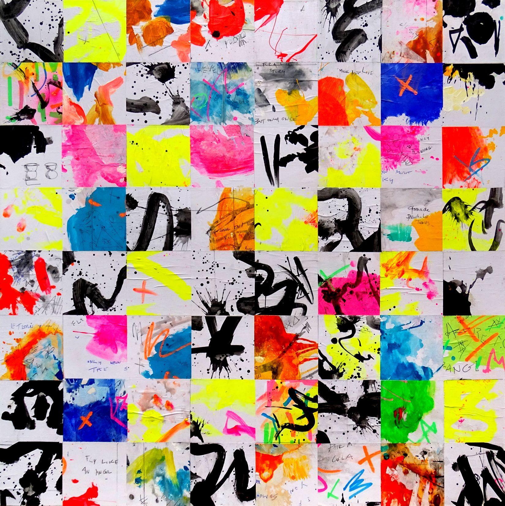 Tehos - Champ de perception chromatique A-07, Mixed Media on Canvas