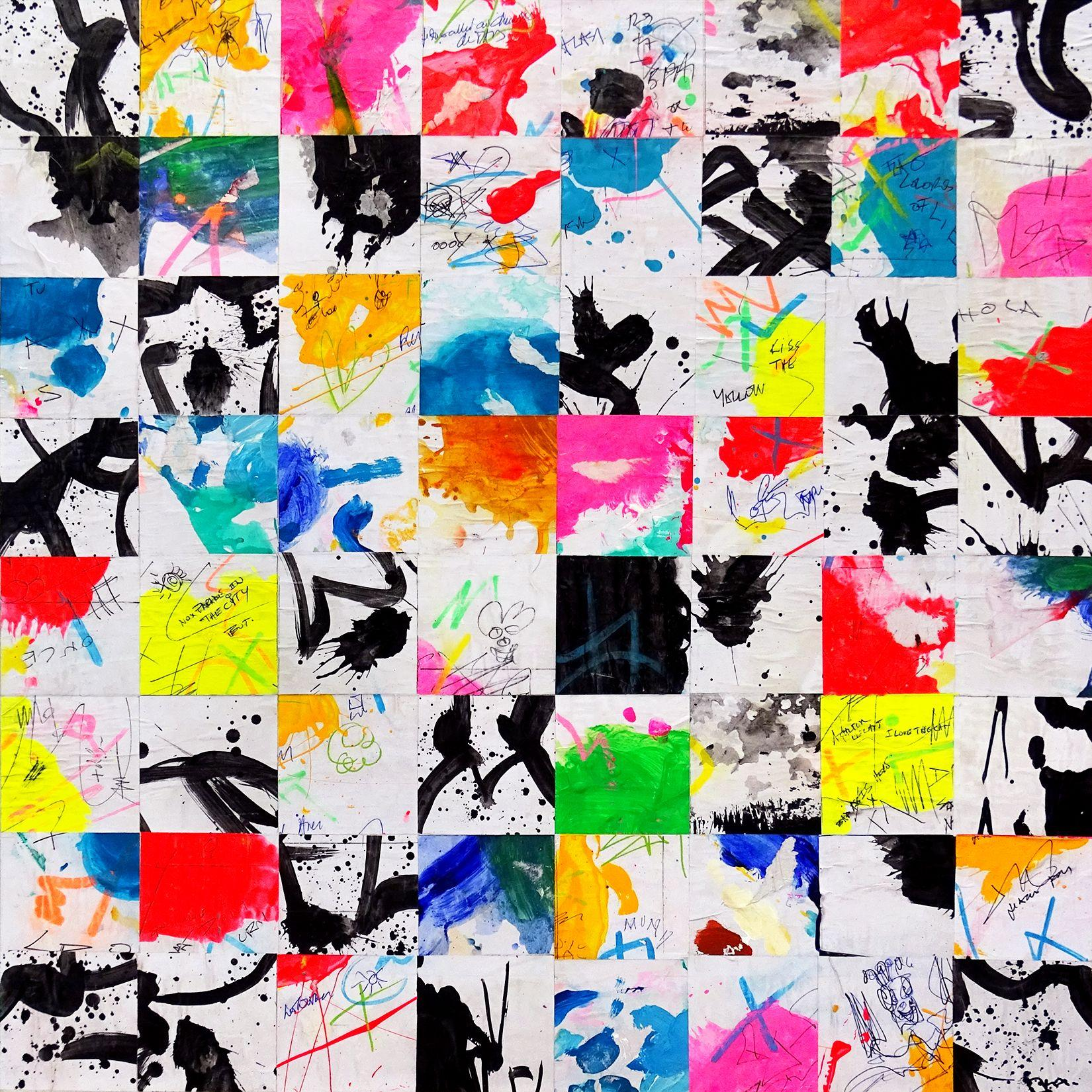 Tehos - Champ de percussion chromatique A-6, Mixed Media on Canvas