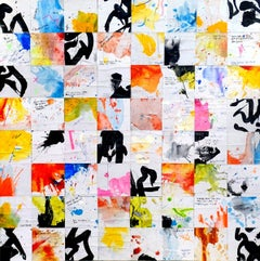 Tehos  Falling memories, Mixed Media on Canvas