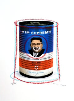 Tehos - Kim Supreme, Mixed Media on Paper