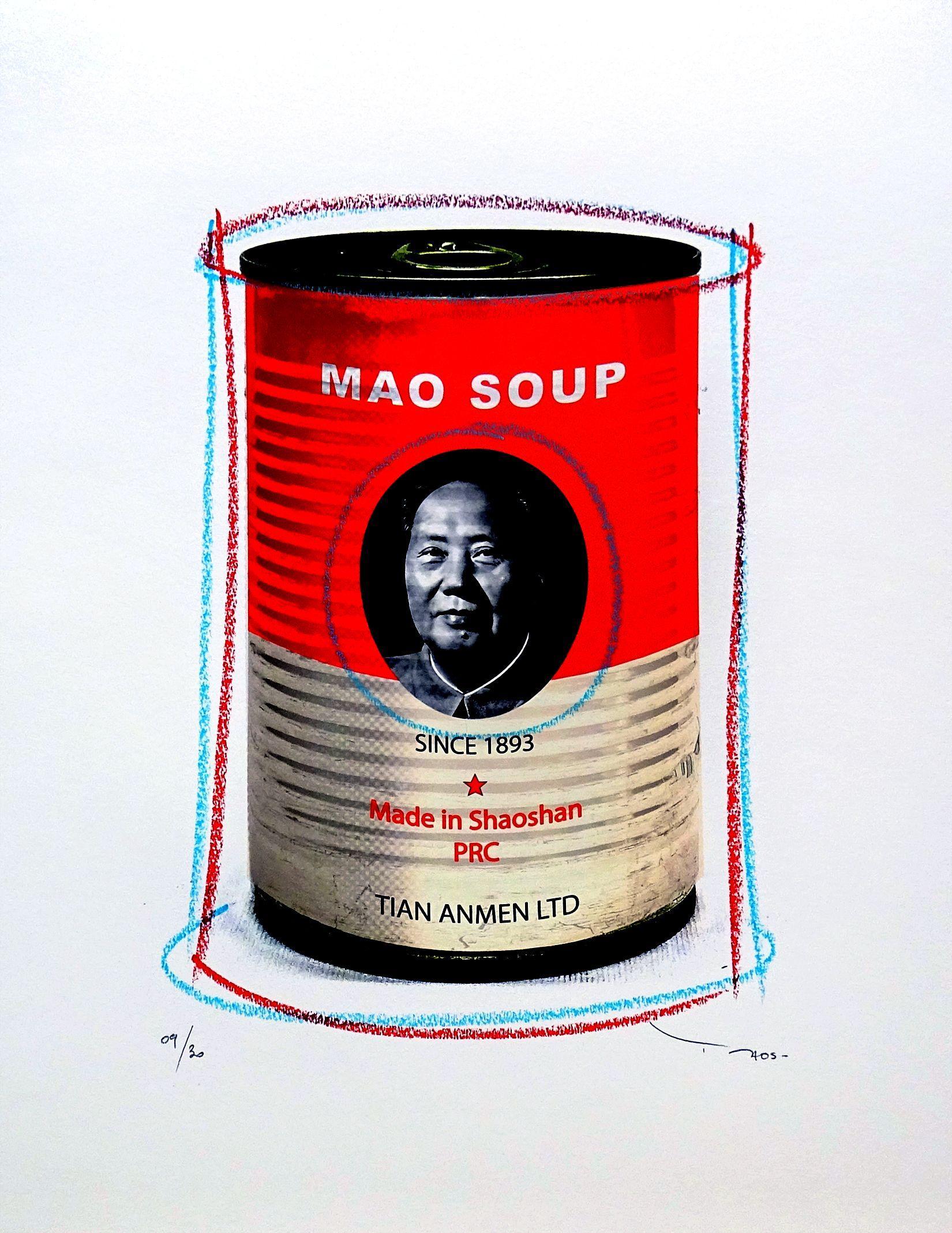 Tehos - Mao Soup, Mixed Media on Paper