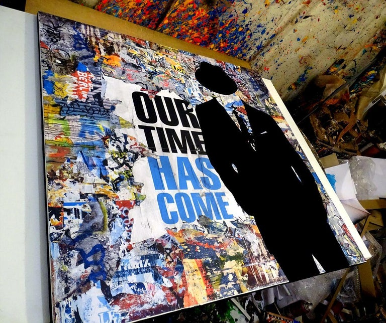 Tehos - Our time has come, Mixed Media on Canvas - Pop Art Mixed Media Art by Tehos Frederic Camilleri