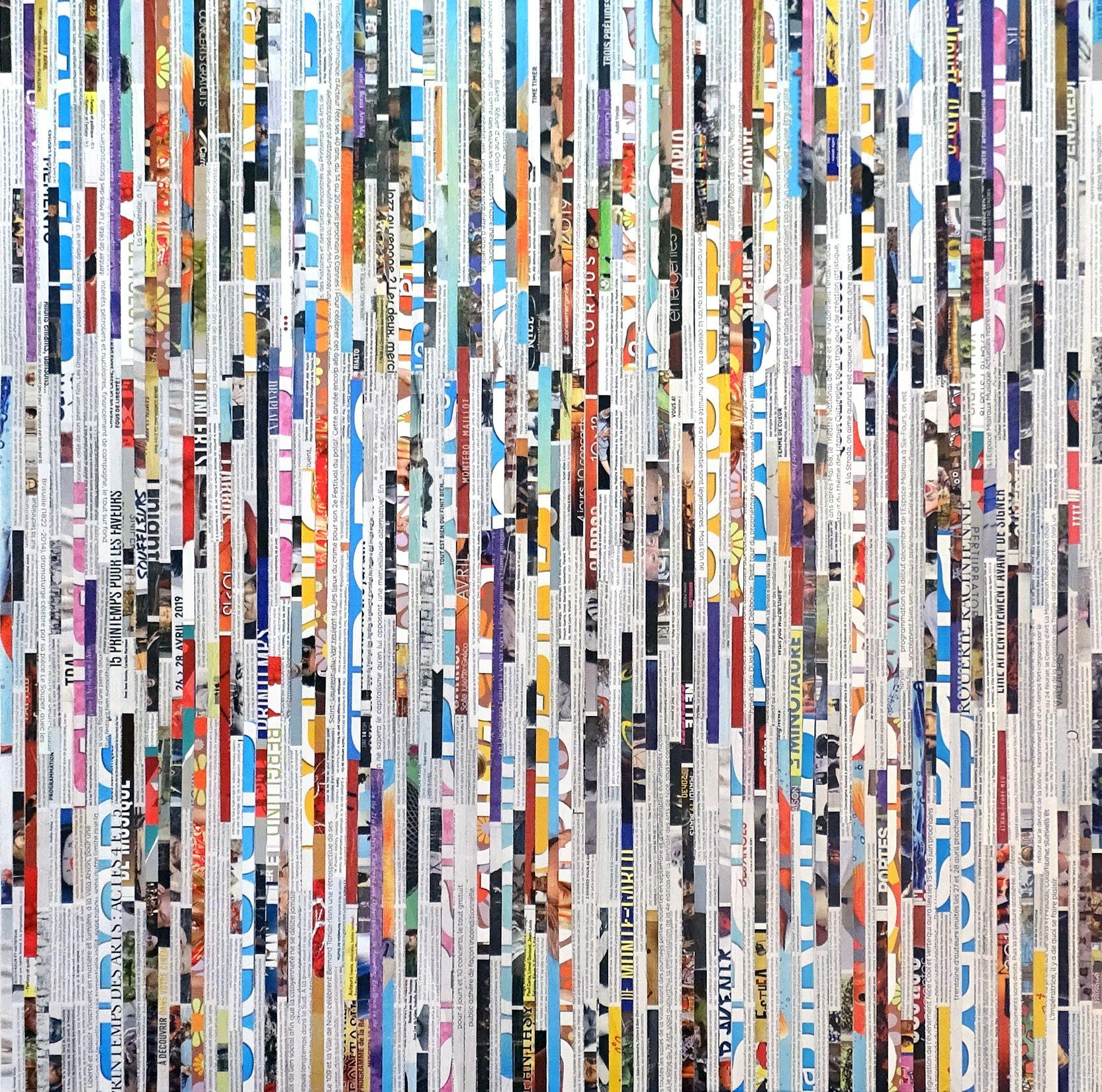 Tehos - The other line, Mixed Media on Canvas