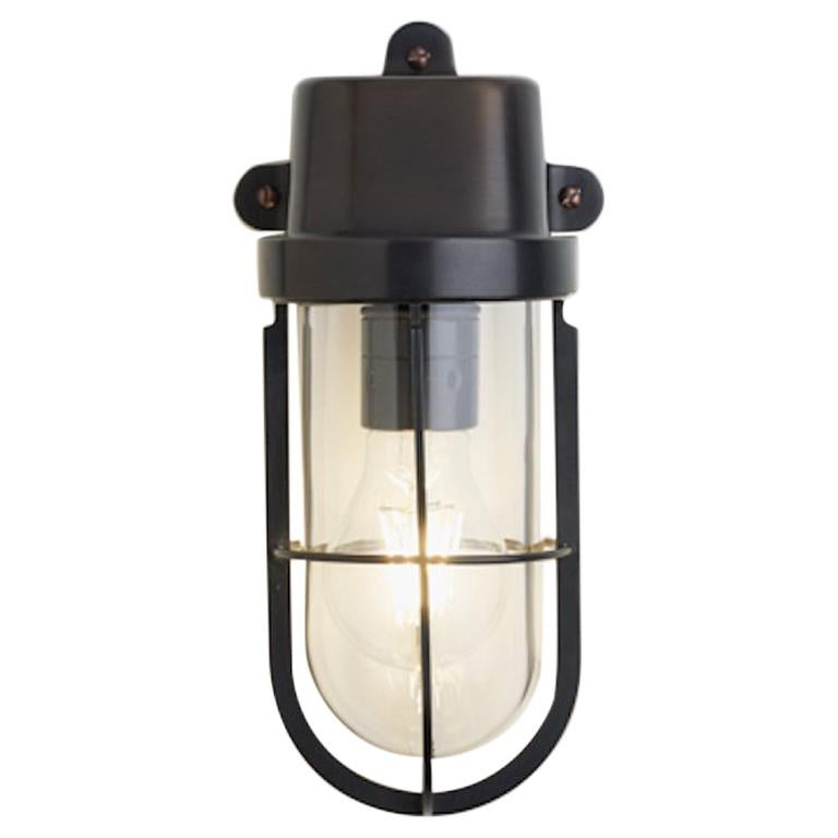 Tekna Admiral Wall Light in Dark Bronze Brass Finish with Clear Glass For Sale