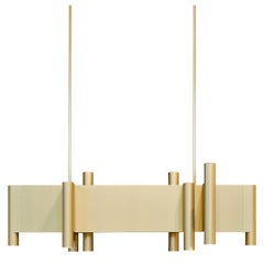 Tekna Aldwych Chandelier in Aluminium with Sateen Brass Finish