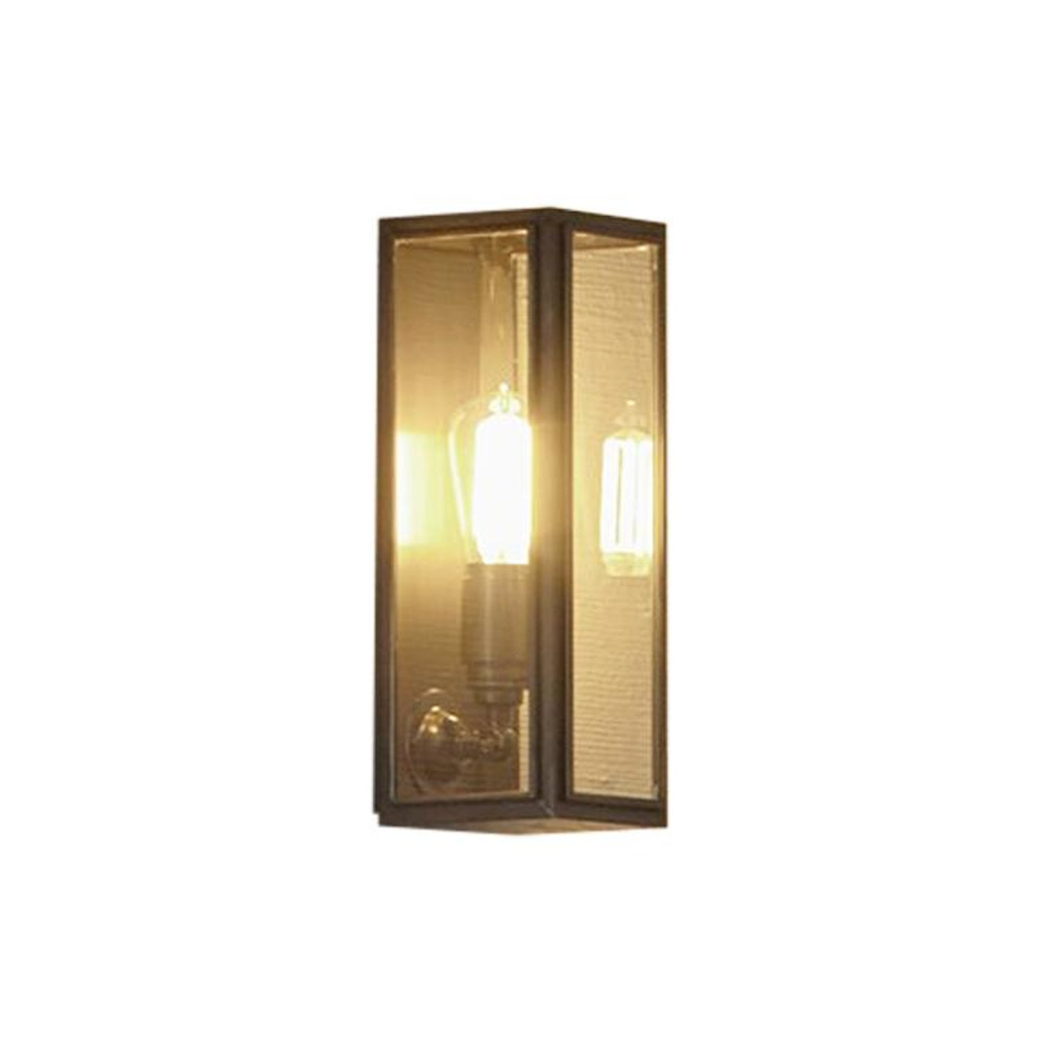 Tekna annet gauze c wall light with dark bronze finish and clear glass