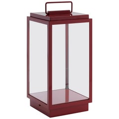 Tekna Blakes Table Lamp in Bronze with Kenia Red Lacquer