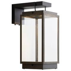 Tekna Blakes Table Lamp on Bracket in Dark Bronze Finish, Rivuletta Clear Glass
