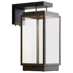 Tekna Blakes Table Lamp on Bracket in Dark Bronze Finish with Clear Glass