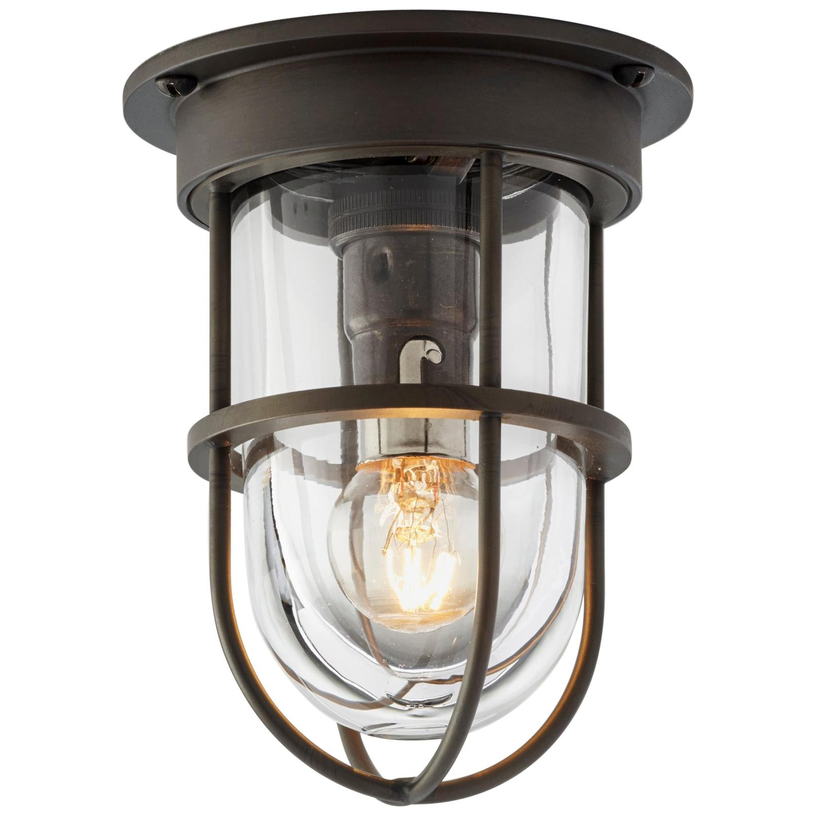 Tekna Bounty 230V LED Ceiling Light with Dark Bronze Finish and Clear Glass