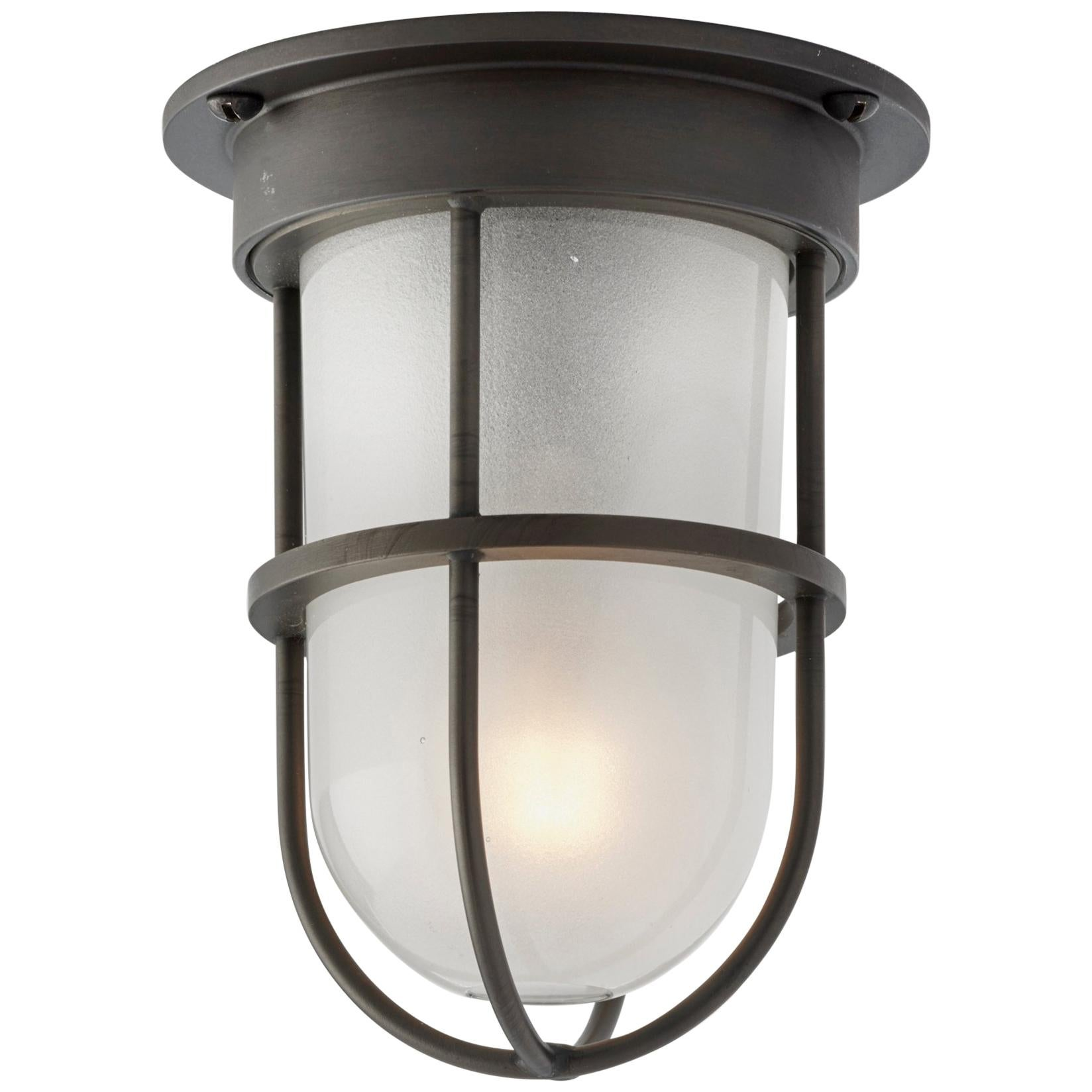 Tekna Bounty 230V LED Ceiling Light with Dark Bronze Finish and Frosted Glass