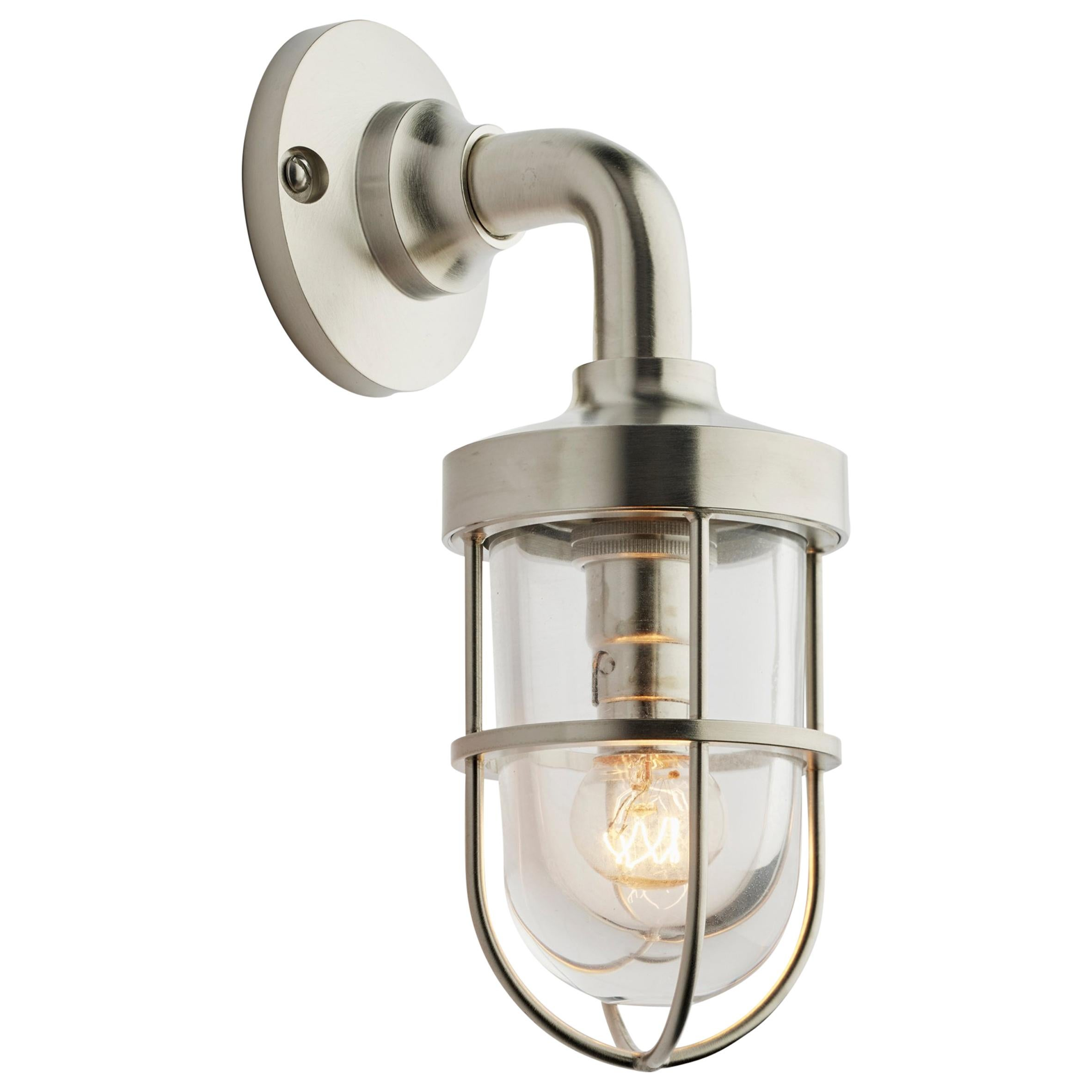 Tekna Bounty Wall 230V LED with Brushed Nickel Finish and Clear Glass