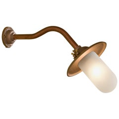 Tekna Butterfly 45° Wall Light with Copper Finish and Frosted Glass