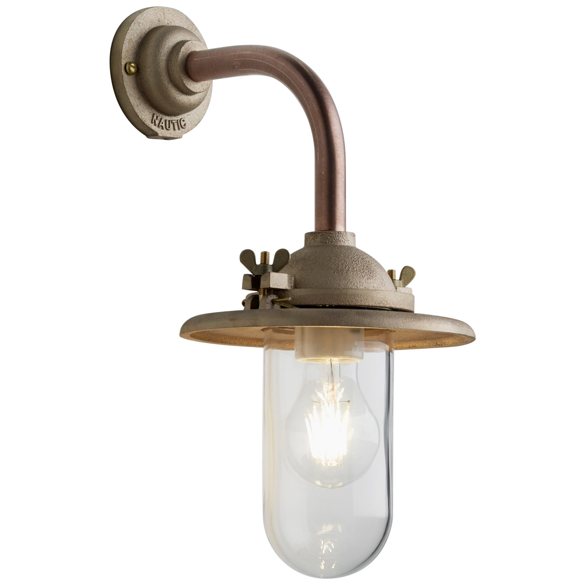 Tekna Butterfly 90° Wall Light with Copper Finish and Clear Glass