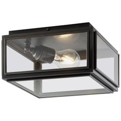 Tekna Chelsea Medium Ceiling Light with Dark Bronze Finish and Clear Glass