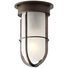 Tekna Docklight Ceiling Light with Dark Bronze Finish and Frosted Glass