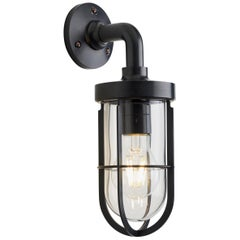 Tekna Docklight Wall Light with Dark Bronze Finish and Clear Glass