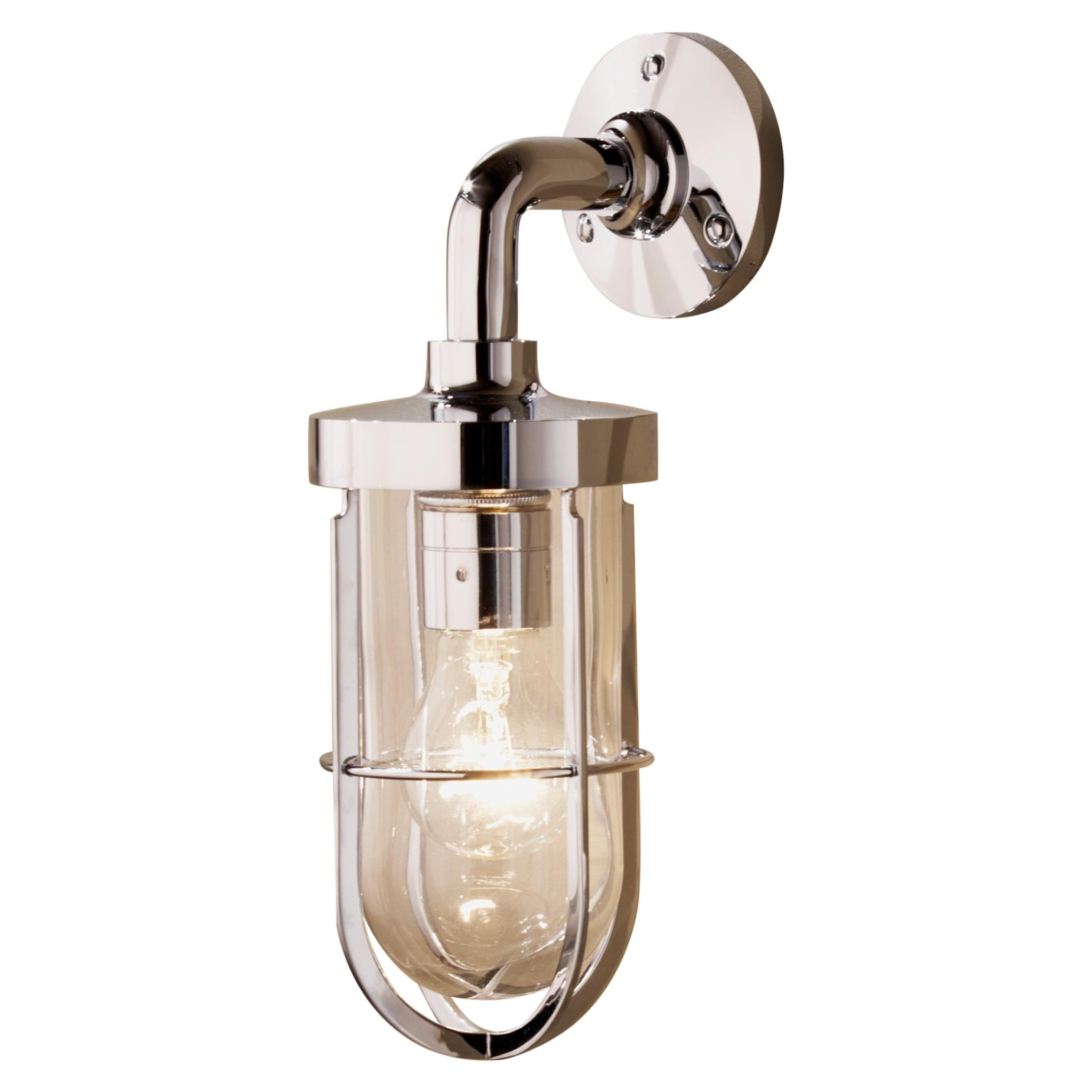 Tekna Docklight Wall Light with Polished Brass Finish and Clear Glass