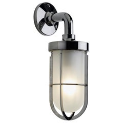 Tekna Docklight Wall Light with Polished Chrome Finish over brass Frosted Glass