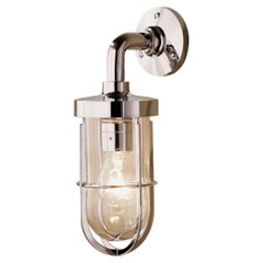 Tekna Docklight Wall Light with Polished Chrome plated brass and Clear Glass