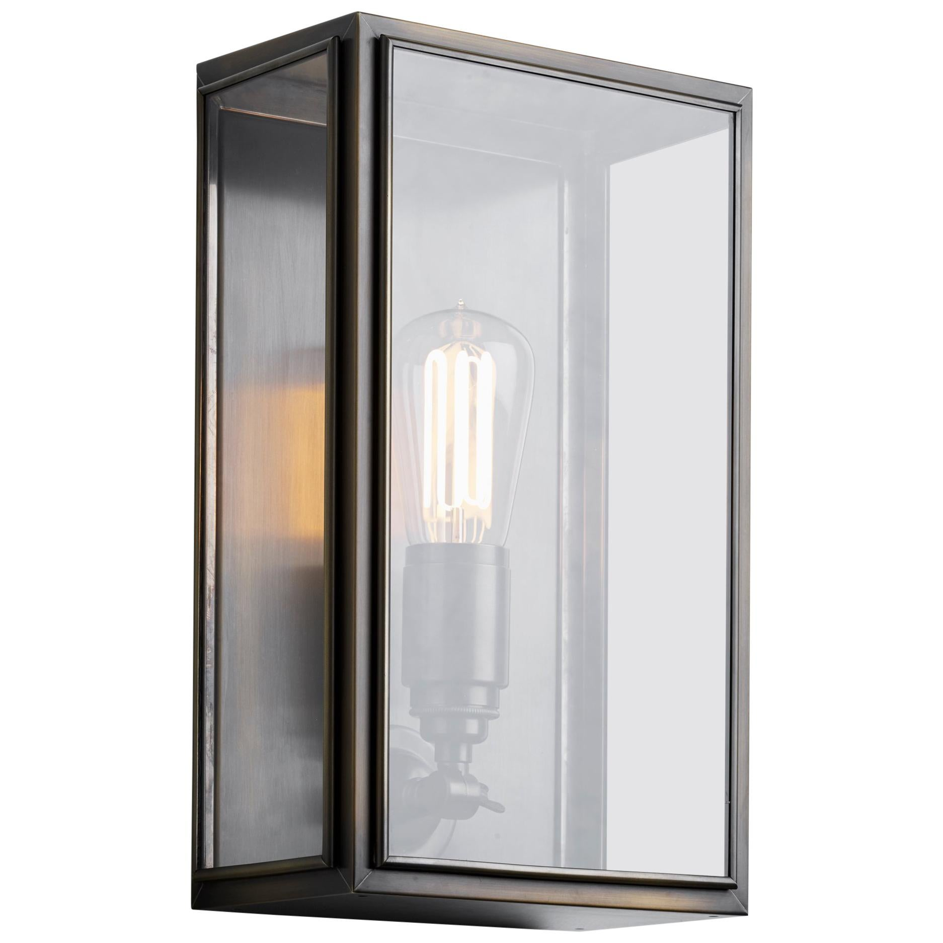 Tekna Essex-C Wall Light with Dark Bronze Finish and Clear Glass