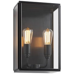 Tekna Essex City-C Wall Light with Dark Bronze Finish and Clear Glass
