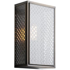 Tekna Essex Mesh-C Wall Light with Dark Bronze Finish and Clear Glass