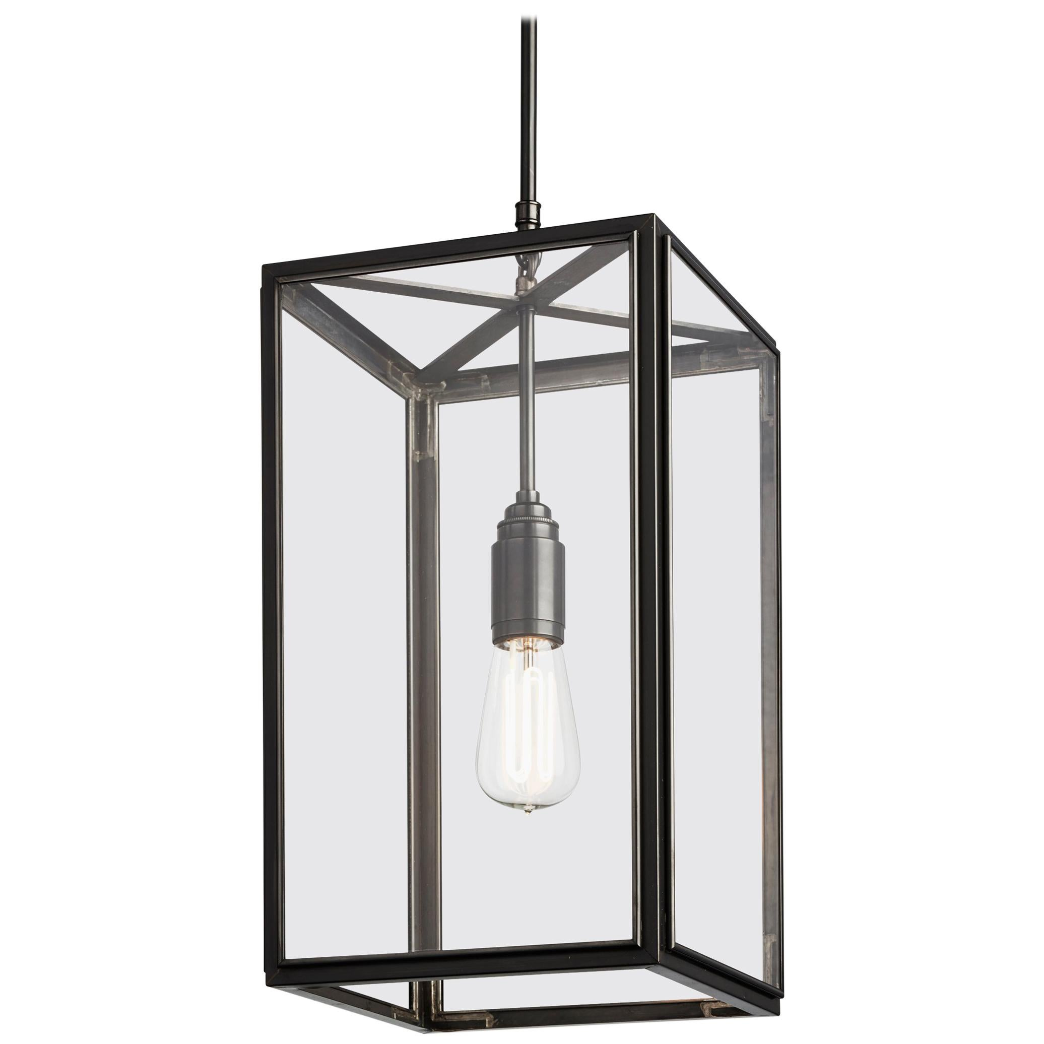 Tekna Ilford-C Pendant Light in Brass with Dark Bronze Finish and Clear Glass