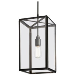 Tekna Ilford-C Pendant Light with Dark Bronze Finish and Clear Glass