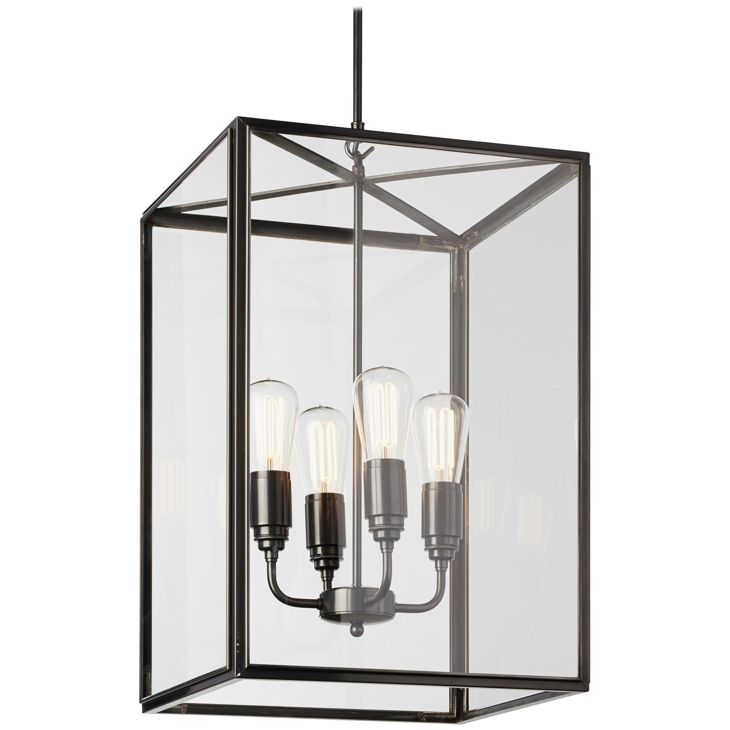 Tekna Ilford Large-C Pendant Light with Dark Bronze Finish and Clear Glass