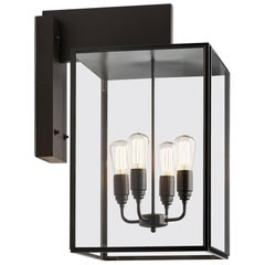 Tekna Ilford Large-C Wall Light with Dark Bronze Finish and Clear Glass