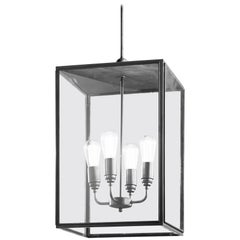 Tekna Ilford Large Pendant Light with Closed Top and Clear Glass in Bronze Fini