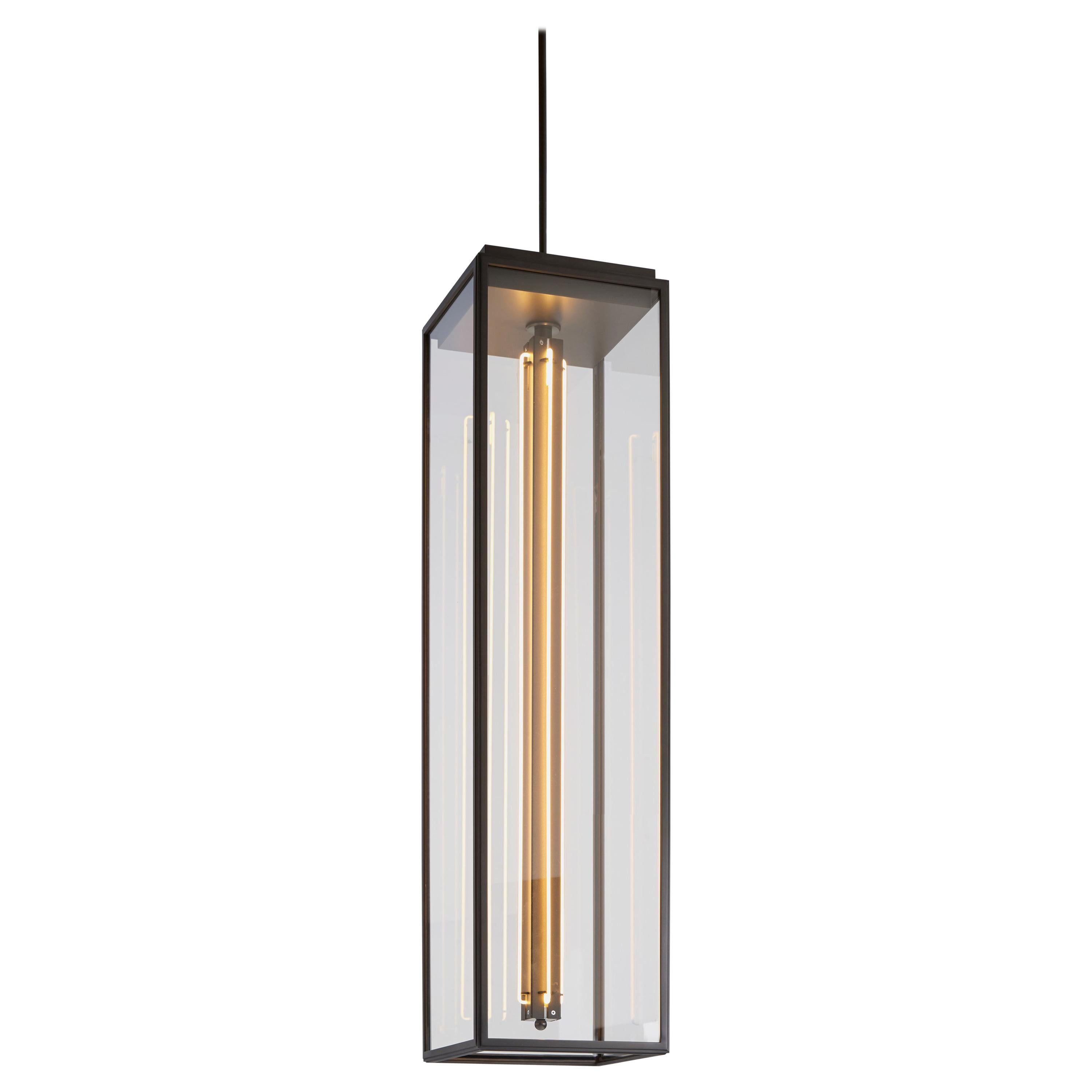 Tekna Ilford Pendant Extra Large Light with Dark Bronze Finish and Clear Glass