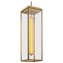 Tekna Ilford Pendant Extra Large Light with Sateen Brass Finish and Clear Glass