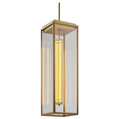 Tekna Ilford Pendant Light with Sateen Brass Finish and Clear Glass