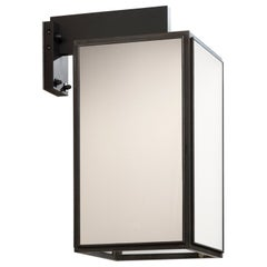 Tekna Ilford Wall-C Wall Light with Dark Bronze Finish and Frosted Glass