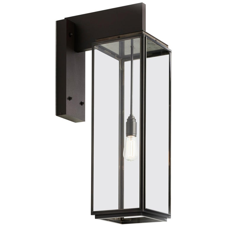 Tekna Ilford Wall Light on Bracket 700 with Dark Bronze Finish and Clear Glass For Sale