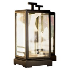 Tekna Minor Rechargeable Table Lamp with Black Painted Brass and Clear Glass
