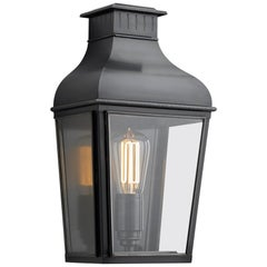 Tekna Montrose City Small-C Wall Light with Dark Bronze Finish and Clear Glass