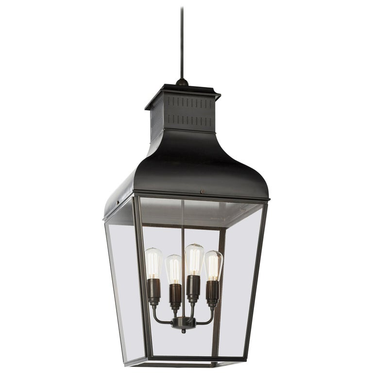 Tekna Montrose Large-C Pendant Light with Dark Bronze Finish and Clear Glass For Sale