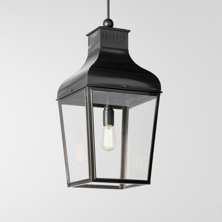 Modern Tekna Montrose LED Pendant Light with Dark Bronze Finish and Clear Glass For Sale