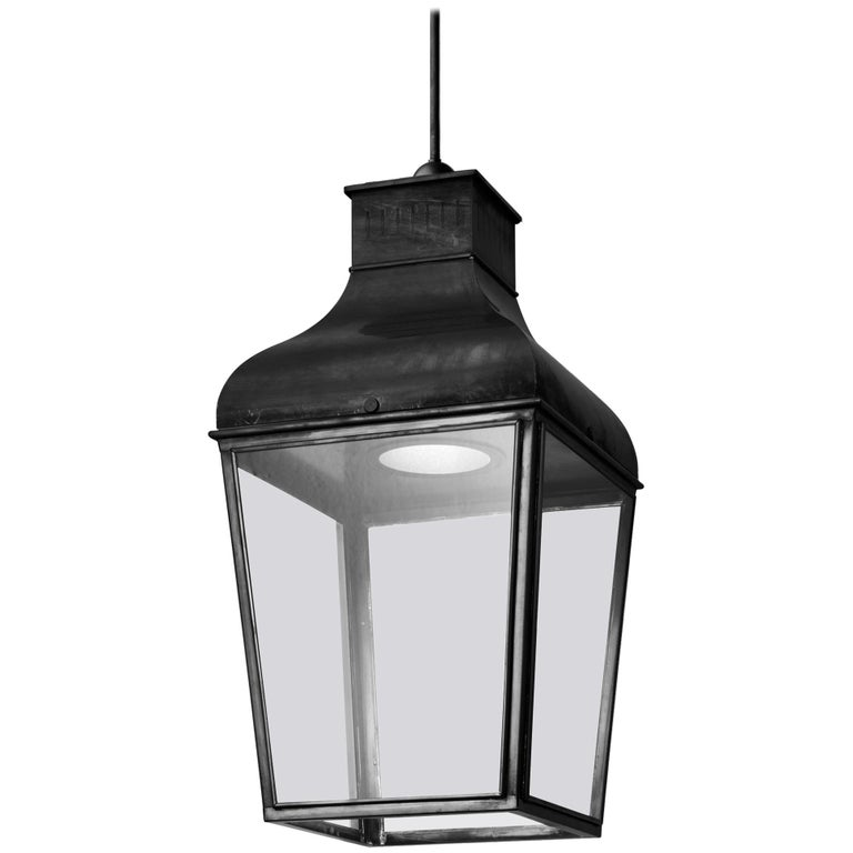 Tekna Montrose LED Pendant Light with Dark Bronze Finish and Clear Glass For Sale