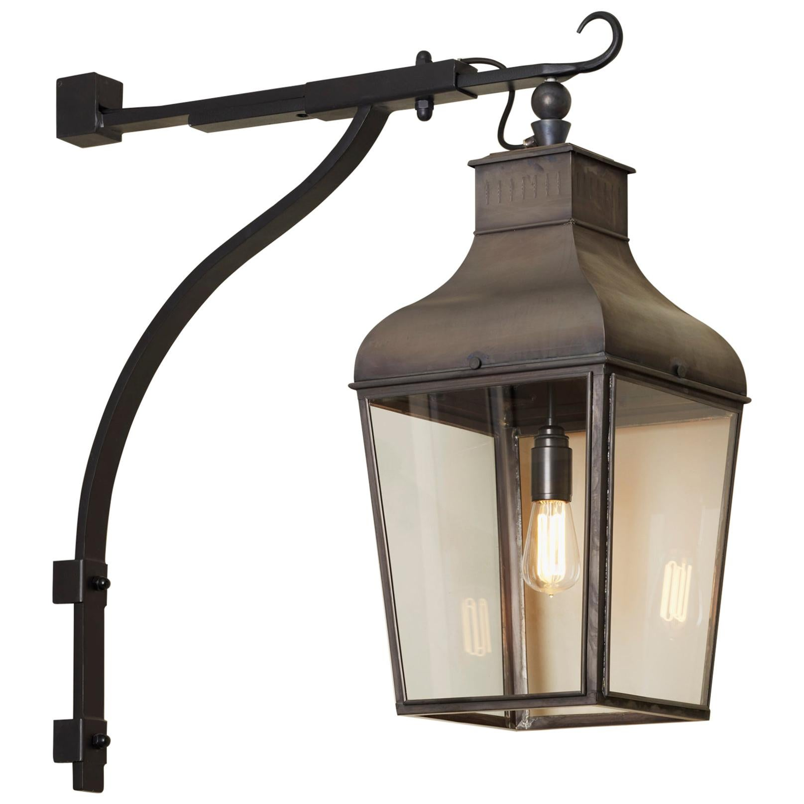Tekna Montrose Wall C Light with Dark Bronze Finish and Clear Glass