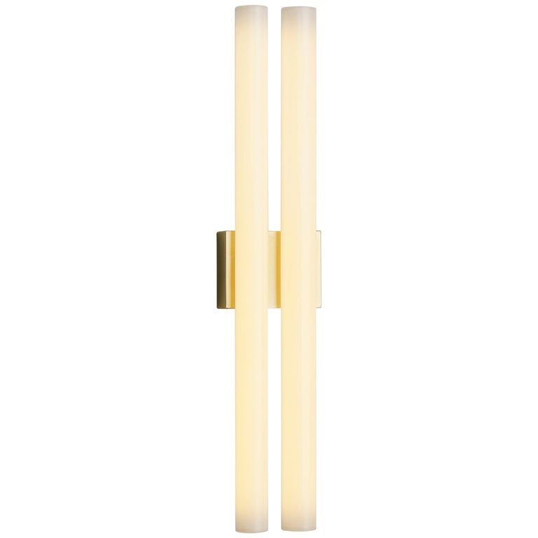 Tekna Phare Double Wall Lamp with Polished Brass Finish, Large For Sale